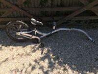 Giant tag along one wheel bike