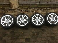 Audi Winter Wheels with Dunlop Sp 3D winter tyres. Nearly new.