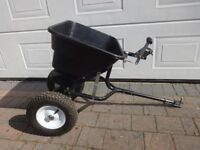 80lb Tow Behind Broadcast Spreader for Ride-On Mower / ATV