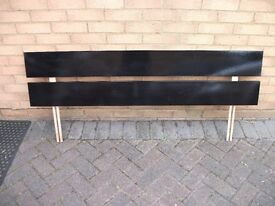 """Black Headboard for 4'6"""" bed"""