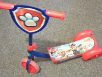 Paw Patrol iconic Scooter hardly used.