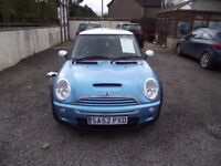 2002 52 REG MINI COOPERS S, LOW MILES FULL SERVICE HISTORY, GREAT DRIVER, WARRANTY