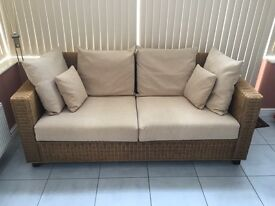 Sofas - 2 lovely wicker sofas - 1 large and size 186cm x 87cm and 1 medium size 147cm x 87cm
