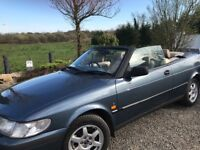 FOR SALE, Great driving Saab 93 convertible car 116,000 miles from new. £900