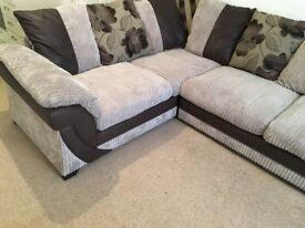 Brand New DFS Mink Corner Sofa Perfect Condition