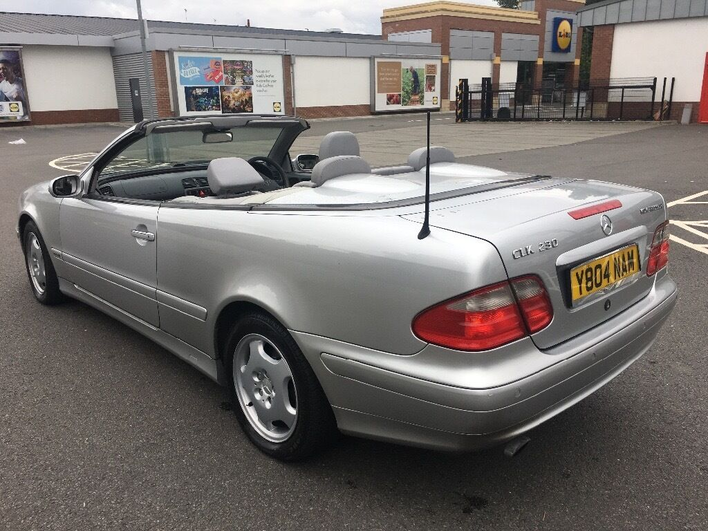 Auto Convertible 2001 Mercedes Benz Clk 230 Kompressor