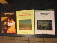 Selection of vocal music books