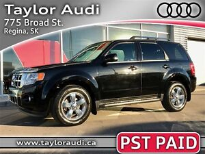 2009 Ford Escape Limited 3.0L, PST PAID, LOCAL TRADE, COMMAND ST