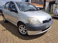 TOYOTA YARIS 1.0 HATCHBACK 5 DOOR, IDEAL FIRST CAR. LOW MILEAGE
