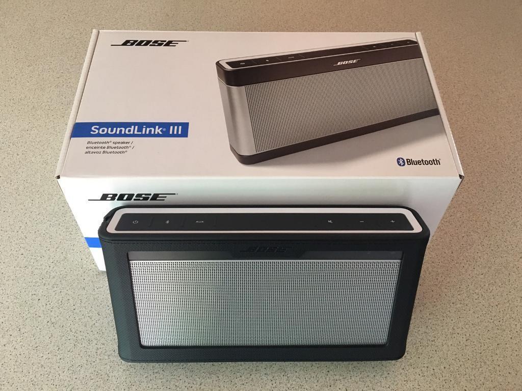 Bose Soundlink 3 Bluetooth Speaker and Bose Case