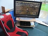 Original Xbox with 40 inch Sony Bravia TV and Games Chair