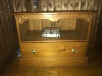 Wooden hand made tv cabinet