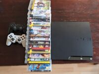 PLAYSTATION 3 - PS3 - WITH 2 ORIGINAL CONTROLLERS PLUS GAMES