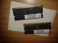 LAPTOP MEMORY RAM 4GB BY NANYA 2x2GB (TOTAL 4GB MEMORY RAM) - NT2GT64U8HD0BN-AD