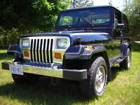 Jeep, exceptional, all original, low mileage YJ Wranger