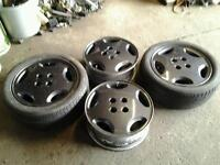 Set of 4 vauxhall cav slabs in good condition painted in graphite grey