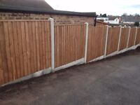 2 PANELS, 2 GRAVEL BOARDS AND 1 CONCRETE POST