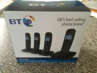 BT QUAD DIGITAL CORDLESS PHONES WITH ANSWERING MACHINE