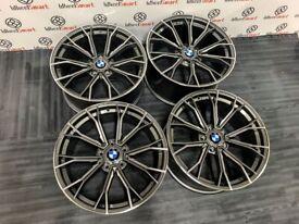 "BRAND NEW 19"" 20"" BMW M-PERFORMANCE V2 STYLE ALLOYS - 5 x120 or 5 x 112- GREY/DIAMOND CUT FINISH"