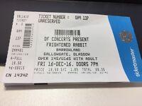 Frightened Rabbit tickets x 2, standing, Glasgow Barrowland, Friday 16 December 2016