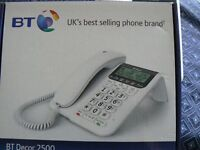 BT D��cor 2500 Corded Phone with Answering Machine-Boxed