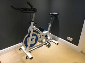 Bodymax B2 indoor spinning style bike with electronic display, immaculate condition