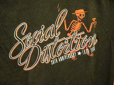 SOCIAL DISTORTION 30th Anniversary Tour 2009 T Shirt Black Baby Doll Medium