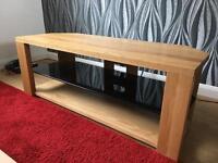 Solid Oak Tv corner unit (john Lewis)