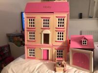 Dolls house with garage and car. Free to a good home!!