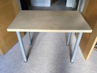 FREE: Small Ikea desk (100x60cm) - Birch with silver legs