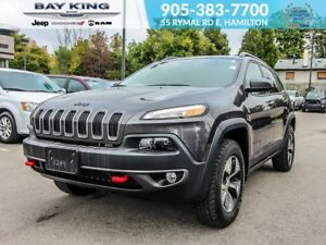 "2018 Jeep Cherokee BACKUP CAM, 8.4"" DISPLAY, TRAILER TOW, LEATHE"