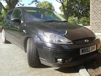 FORD FOCUS ST170 in PANTHER BLACK w/half leather (needs clutch hence price for quick sale) 4mnth MOT