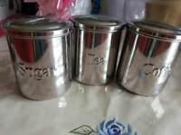 Sugar, Tea and Coffee pots