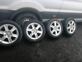 Genuine 16in Audi alloys for sale with tyres