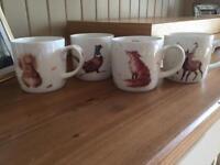 4 Royal Worcester Mugs