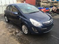 BREAKING - VAUXHALL CORSA D FACELIFT FRONT BUMPER - BLUE Z22A - ALL PARTS AVAILABLE