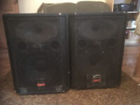 Pair Wharfdale Active PA Speakers 300w each - Great for band vocal PA