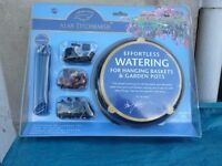 Watering system for pots or hanging baskets