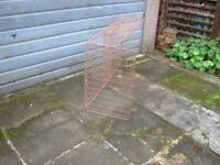 Bronze mesh fireguard