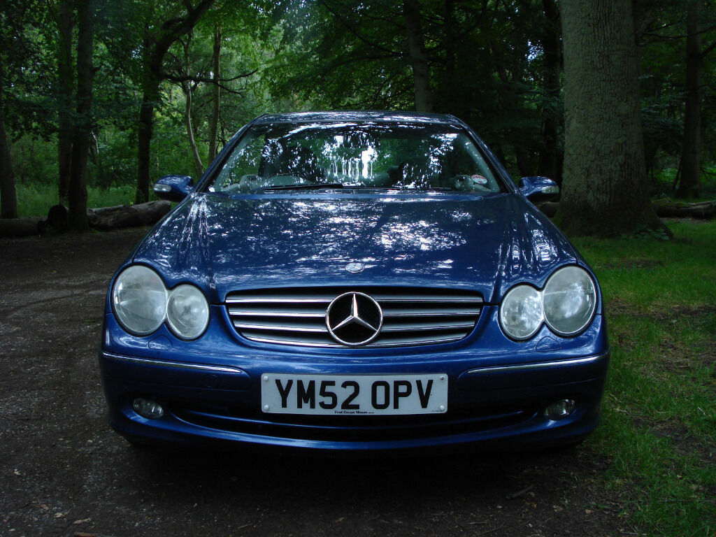 2002 mercedes benz clk 270 cdi elegance auto blue coupe new mot in bromley london gumtree. Black Bedroom Furniture Sets. Home Design Ideas