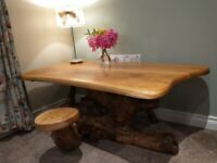 Original oak & root coffee table