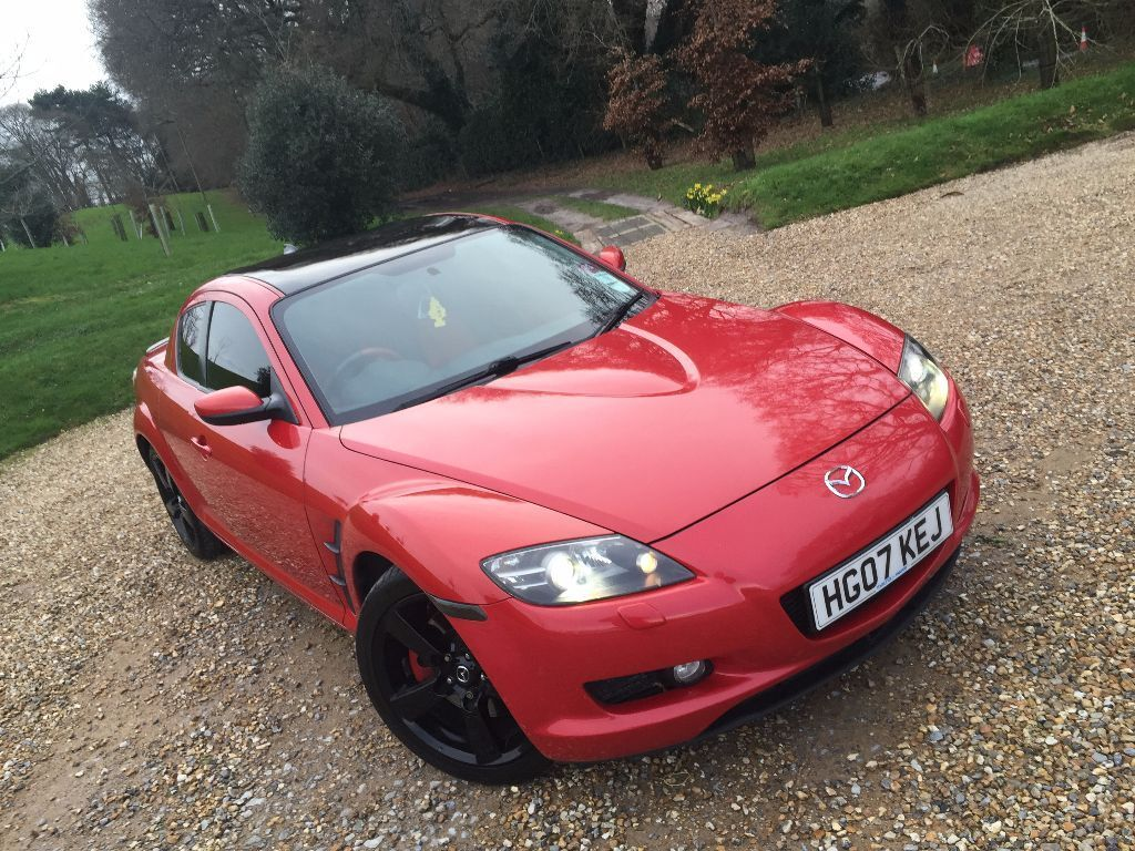 2007 mazda rx 8 rx8 231 ps red black alloys fsh can swap. Black Bedroom Furniture Sets. Home Design Ideas