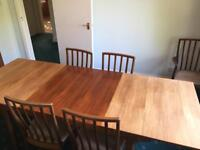 Vintage McIntosh Macintosh Teak Extending Dining Table and 6 Chairs