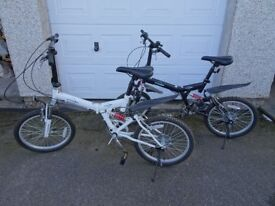 Two Folding ECOSMO 6 Speed Shimano bicycle