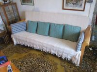 FUTON/ SETTEE, FOLDS DOWN TO DOUBLE BED.