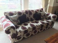 DFS Large Sofa and 2 Armchairs