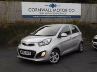 KIA PICANTO 1.0 1 5d 68 BHP NEW MOT AND SERVICE (silver) 2012