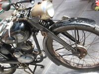 ALL CLASSIC MOTORBIKES WANTED BSA NORTON VINCENT TRIUMPH JAMES EXCELLSIOR AJS MATCHLESS WANTED CASH