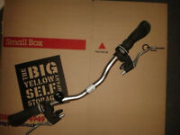 Complete control set bike handlebar, stem, brake levers + gear shifters straight low rise hybrid MTB
