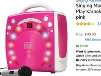 Singing machine pink and extra mic worth over £55